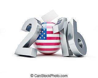 2016, présidentiel, élection, usa