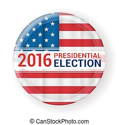 2016 presidential election badge. vector illustration