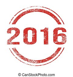 2016 Red Ink Stamp