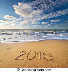 2016, shore., morze, rok