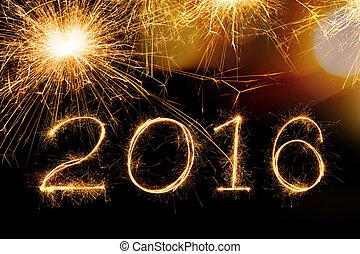 2016 Sparkle firework text