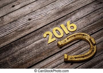 2016 written in golden figures