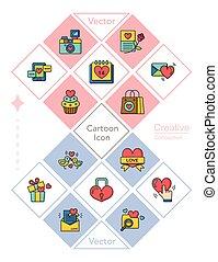icon set valentinesday vector