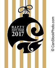 2017, 新年おめでとう, カード, ∥あるいは∥, バックグラウンド。