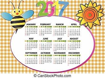 2017, 蜂, そして, ひまわり
