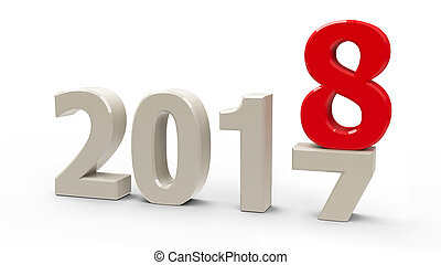 2017-2018 change represents the new year 2018,...