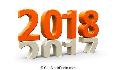 2017-2018 orange - 2017-2018 change represents the new year...