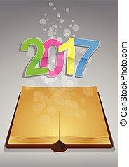 2017, antico, libro