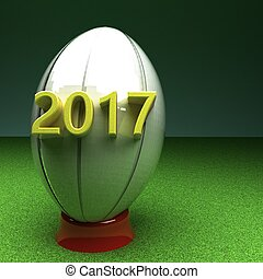 2017, balle,  rugby, année
