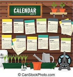 2017 Calendar Starts Sunday