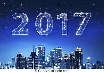 2017, cielo, numero