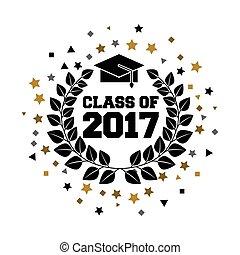 2017, classe, cartão