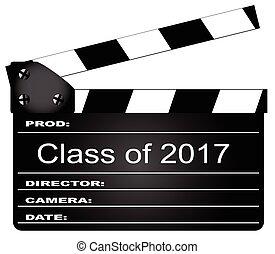 2017, classe, clapperboard