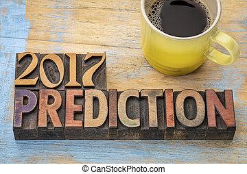 2017, concept, prédiction