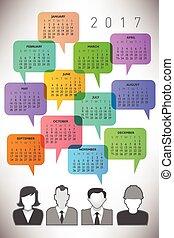 2017 Creative Icon People Calendar
