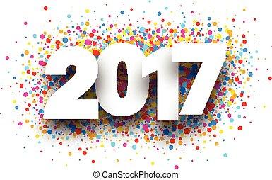 2017, drops., fundo