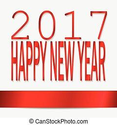 2017, felice anno nuovo, concetto