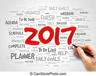2017 Goals word cloud business concept