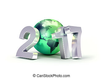 2017 Greeting symbol for environment