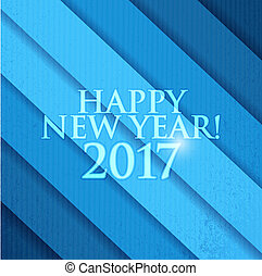 2017 Happy New Year. Blue background
