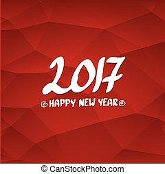 2017 Happy new year creative design background.
