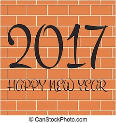 2017 Happy New Year day.