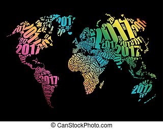 Happy new year 2014 europe asia and africa illustration of 2017 happy new year gumiabroncs Image collections