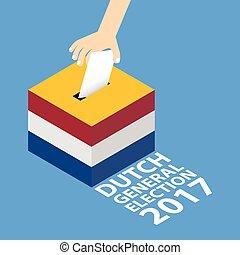2017, hollandais, élection, général