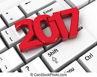 2017 icon on keyboard