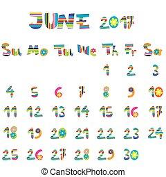 2017, juin, calendrier