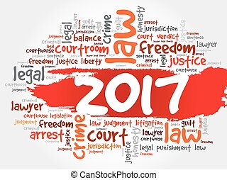 2017 Law word cloud business concept