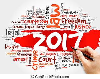 2017, ley, palabra, nube, concepto de la corporación mercantil