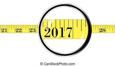 2017, mètre à ruban