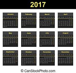 2017 Mechanical Display Calendar