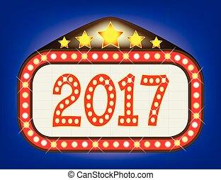 2017 Movie Theatre Marquee - A movie theatre or theatre...