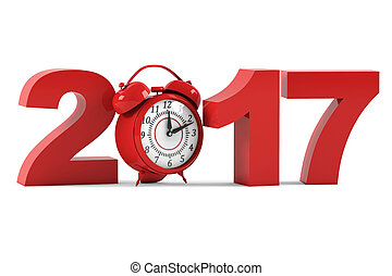 2017. New Year. 3D rendering
