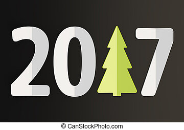 2017 New Year and Xmas concept, 3D rendering
