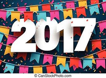 2017 new year blue background. - 2017 year blue background...