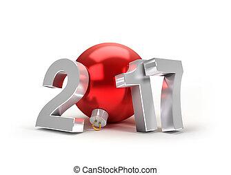 2017 New Year greeting symbol