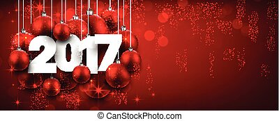 2017 New Year red banner.