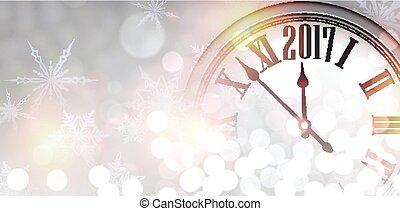 2017 New Year shining banner.