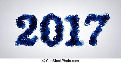 2017 New Year winter banner.