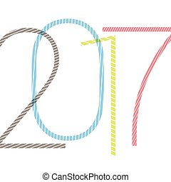 2017 number. happy new year stylish design template. vector