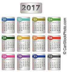 2017 numbered calendar
