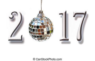 2017, pelota, figuras, navidad