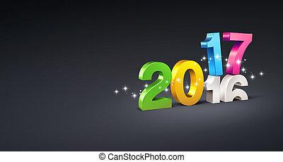 2017, powitanie karta