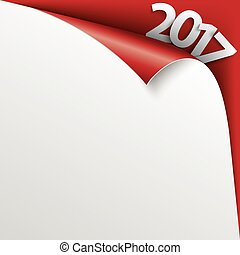 2017 Scrolled Corner Red Paper Cover