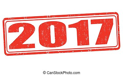 2017 sign or stamp