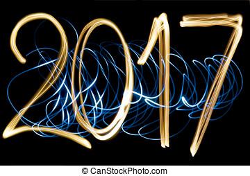 2017 - light painting year 2017