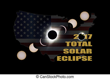 2017 Total Solar Eclipse Phases Across America
